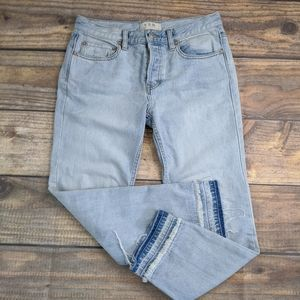 We The Free Jeans Raw Hem button fly jeans Sz 25